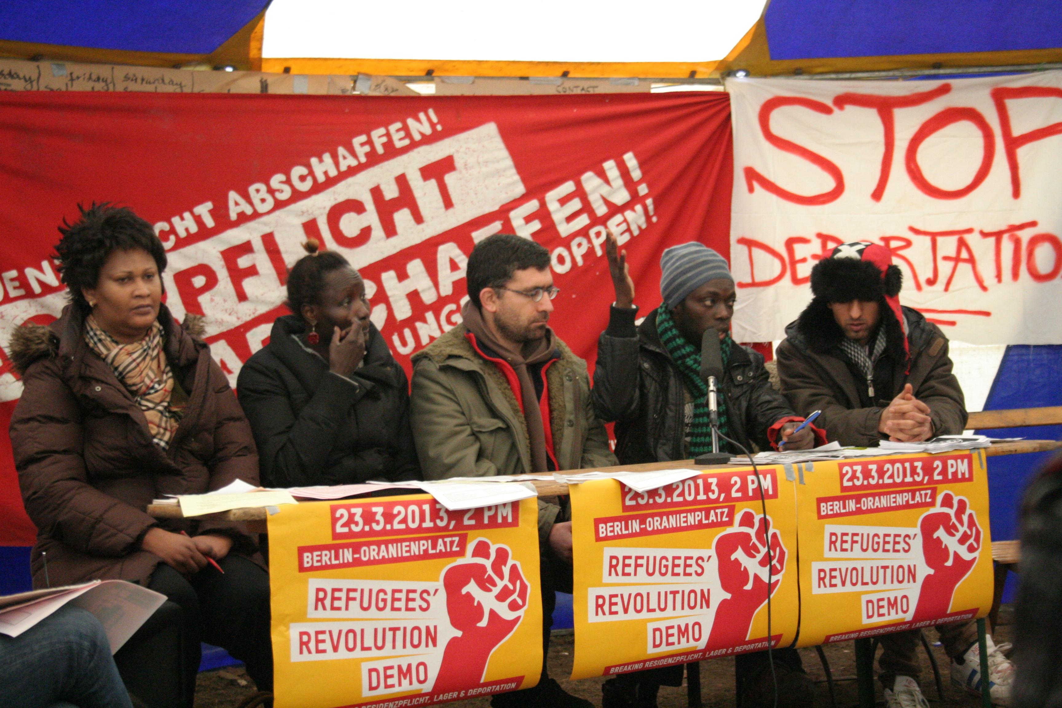 Pressconferenc Oranienplatz